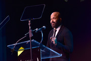 Special guest Jeffrey Wright speaks on stage during IAVA 12th Annual Heroes Gala at the Classic Car Club Manhattan on November 8, 2018 in New York City.