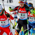 (FRANCE OUT) Nastassia Dubarezava of Belarus takes 2nd place during the IBU Biathlon World Cup Men's and Women's Relay on December 13, 2014 in Hochfilzen, Austria.