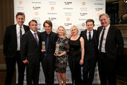 (L-R) John Sloss, Richard Linklater, Ellar Coltrane, Cathleen Sutherland, Patricia Arquette, Ethan Hawke and Jonathan Sehring attend IFP's 24th Gotham Independent Film Awards at Cipriani, Wall Street on December 1, 2014 in New York City.