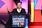 Laurie Anderson speaks onstage during IFP's 27th Annual Gotham Independent Film Awards at Cipriani, Wall Street on November 26, 2018 in New York City.