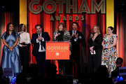 Jane Rosenthal (C) accepts an award onstage during the IFP's 29th Annual Gotham Independent Film Awards at Cipriani Wall Street on December 02, 2019 in New York City.