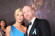 Actors Matt Walsh (R) and Morgan Walsh walk the red carpet during the 69th Annual Primetime Emmy Awards at Microsoft Theater on September 17, 2017 in Los Angeles, California.
