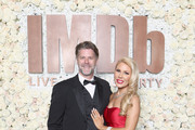 Slade Smiley (L) and Gretchen Rossi attend the IMDb LIVE Viewing Party on March 4, 2018 in Los Angeles, California.