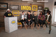 (L-R) Host Kevin Smith, director Silas Howard, actors Jim Parsons, Claire Danes, Octavia Spencer and Priyanka Chopra from 'A Kid Like Jake' attend The IMDb Studio and The IMDb Show on Location at The Sundance Film Festival on January 21, 2018 in Park City, Utah.