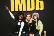 (L-R) Actor Nana Ghana, director Daryl Wein and actor Vivian Bang of 'White Rabbit' attend The IMDb Studio and The IMDb Show on Location at The Sundance Film Festival on January 20, 2018 in Park City, Utah.