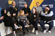 Jack Lowden, Florence Pugh, Stephen Merchant, Paige, Lena Headey, Vince Vaughn, and Nick Frost of 'Fighting With My Family' attend The IMDb Studio at Acura Festival Village on location at The 2019 Sundance Film Festival - Day 4 on January 28, 2019 in Park City, Utah.
