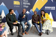 (L-R) Chiwetel Ejiofor, William Kamkwama, Maxwell Simba and Aïssa Maïga of 'The Boy Who Harnessed The Wind' attend The IMDb Studio at Acura Festival Village on location at the 2019 Sundance Film Festival - Day 1 on January 25, 2019 in Park City, Utah.