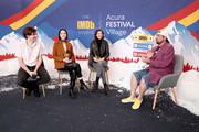 (L-R) Bill Benz, St. Vincent, Carrie Brownstein of 'The Nowhere Inn' and Kevin Smith (R) attend the IMDb Studio at Acura Festival Village on location at the 2020 Sundance Film Festival – Day 3 on January 26, 2020 in Park City, Utah.