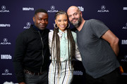 (L-R) David Oyelowo, Storm Reid, and Jacob Estes of 'Relive' attend The IMDb Studio at Acura Festival Village on location at The 2019 Sundance Film Festival - Day 2  on January 26, 2019 in Park City, Utah.