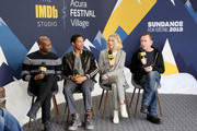 (L-R) Julius Onah, Kelvin Harrison Jr., Naomi Watts, and Tim Roth of 'Luce' attend The IMDb Studio at Acura Festival Village on location at The 2019 Sundance Film Festival - Day 3 on January 27, 2019 in Park City, Utah.