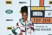 "Teyonah Parris of ""If Beale Street Could Talk"" attends The IMDb Studio presented By Land Rover At The 2018 Toronto International Film Festival at Bisha Hotel & Residences on September 9, 2018 in Toronto, Canada."