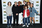 "Gio Galicia, director Jonah Hill, Sunny Suljic, Na-kel Smith, Ryder McLaughlin, Alexa Demie and Olan Prenatt of ""Mid90's"" attend The IMDb Studio presented By Land Rover At The 2018 Toronto International Film Festival at Bisha Hotel & Residences on September 9, 2018 in Toronto, Canada."