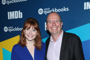 Actress Bryce Dallas Howard of 'Dads' and IMDb Founder and CEO Col Needham attend The IMDb Studio Presented By Intuit: QuickBooks Canada at Toronto 2019 at Bisha Hotel & Residences on September 06, 2019 in Toronto, Canada.