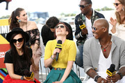 Katie McGrath, Nicole Maines, Chyler Leigh, Jesse Rath, David Harewood, Mehcad Brooks and Melissa Benoist attend the #IMDboat At San Diego Comic-Con 2018: Day Three at The IMDb Yacht on July 21, 2018 in San Diego, California.