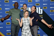 Peter Mensah, Dylan Bruce, Arielle Kebbel and Jason Lewis attend the #IMDboat At San Diego Comic-Con 2018: Day Three at The IMDb Yacht on July 21, 2018 in San Diego, California.