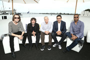 (L-R) Ben Edlund, Neil Gaiman, Carlton Cuse, Graham Roland and Naren Shankar attend the #IMDboat At San Diego Comic-Con 2018: Day Two at The IMDb Yacht on July 20, 2018 in San Diego, California.