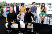 William Zabka, Martin Kove, Xolo Maridueña, Ralph Macchio, Tanner Buchanan and Mary Mouser speak onstage at the #IMDboat at San Diego Comic-Con 2019: Day Two at the IMDb Yacht on July 19, 2019 in San Diego, California.