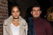 Model Shanina Shaik(L) and Eli Mizrahi attend IMG Models Celebrates The Sports Illustrated, Swimsuit issue at Vandal on February 15, 2016 in New York City.
