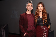Tan France and Negin Mirsalehi pose together during The Talks: In Conversation with Tan France and Negin Mirsalehi Presented by Express at Spring Studios on September 05, 2019 in New York City.