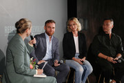 (L-R) Journalist Dana Thomas, Dean of Fashion at Parsons School of Design, Burak Cakmak, IMG Model & Activist, Amber Valetta and Designer Phillip Lim speak on the 'Responsible Revolution' panel in partnership with The Woolmark Company during NYFW: The Shows at Spring Studios on September 06, 2019 in New York City.