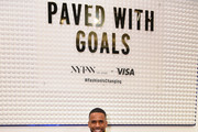 Eric West is spotted at Visa's Grit, Grace, Greatness retail shop during NYFW: The Shows at Spring Studios on February 07, 2020 in New York City.