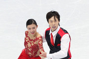 Qing Pang and Jian Tong of China performs during the Pairs Short Program on day one of the ISU Four Continents Figure Skating Championships 2015 at the Mokdong Ice Rink on February 12, 2015 in Seoul, South Korea.