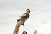 Jessica Dube and Bryce Davison of Canada compete in the Pairs Free Skating during the 2010 ISU World Figure Skating Championships  on March 24, 2010 in Turin, Italy.