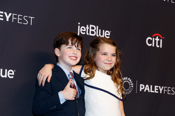Iain Armitage Raegan Revord The Paley Center For Media's 35th Annual PaleyFest Los Angeles - 'The Big Bang Theory' And 'Young Sheldon' - Arrivals