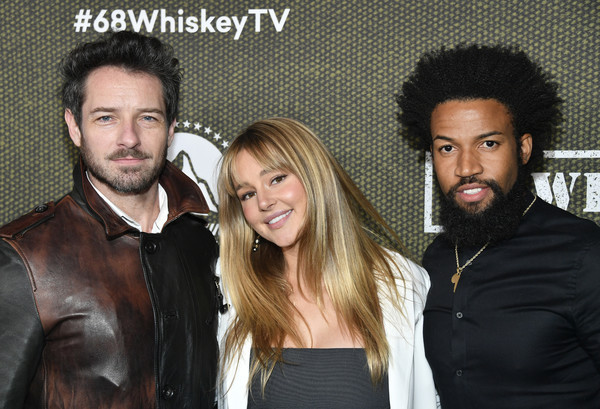 "Paramount Network's ""68 Whiskey"" Premiere Party [hair,facial hair,fashion,beard,event,fun,photography,moustache,black hair,68 whiskey,denim richards,ian bohen,hassie harrison,premiere party,l-r,los angeles,california,sunset tower,paramount network,hassie harrison,ian bohen,68 whiskey,paramount network,sunset tower hotel,yellowstone,paramount pictures,photograph,actor]"