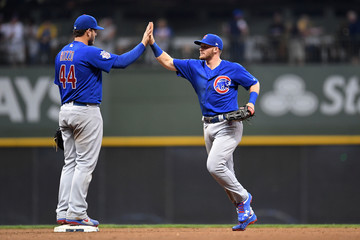 Ian Happ Chicago Cubs vs. Milwaukee Brewers