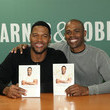 Ian Smith Michael Strahan Signs Copies of 'Wake Up Happy: The Dream Big, Win Big Guide to Accomplishing Your Goals'
