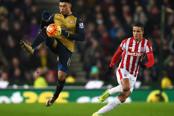 Ibrahim Afellay Stoke City v Arsenal - Premier League