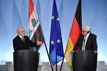 Ibrahim al-Jaafari German Foreign Minister Meets His Iraqi Counterpart