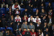 (Center L-R) P.K. Subban, Roberto Luongo, Sidney Crosby, Jay Bouwmeester, Shea Weber and Patrice Bergeron of the Canadian Men's Ice Hockey team watch during the Women's Ice Hockey Preliminary Round Group A game between Canada and the United States on day five of the Sochi 2014 Winter Olympics at Shayba Arena on February 12, 2014 in Sochi, Russia.