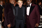 (L-R) Eddie Murphy, Ellen DeGeneres and Wesley Snipes attend the 77th Annual Golden Globe Awards sponsored by Icelandic Glacial on January 5, 2020 at the Beverly Hilton in Los Angeles, CA.