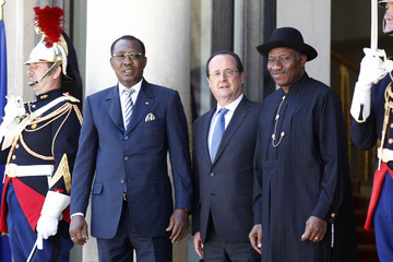 Idriss Deby Paris Summit for safety in Nigeria  AT  The Elysee Palace