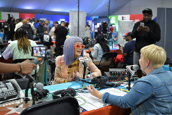 BET Awards 2019 Radio Broadcast Center - Day 1 [convention,job,event,electronics,gamer,technology,meeting,journalist,engineering,games,iggy azalea,bet awards,bet awards 2019 radio broadcast center,california,los angeles,microsoft theater,radio broadcast center]