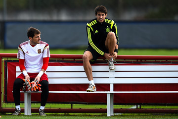 Iker Casillas Spain Training & Press Conference - 2014 FIFA World Cup Brazil