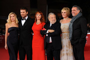 "(L-R) Actress Micaela Ramazzotti, Cesare Cremonini, Rita Carlini, director Pupi Avati, Manuela Morabito and Andrea Roncato attend the ""Il Cuore Grande Delle Ragazze"" premiere during the 6th International Rome Film Festival on November 1, 2011 in Rome, Italy."