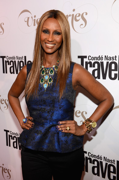 "Iman - Conde Nast Traveler Celebrates ""The Visionaries"" And 25 Years Of Truth In Travel - Cocktails"