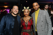 Sal Vulcano, Eric West. and Tashiana Washington attend the Impractical Jokers: The Movie Premiere Screening and Party on February 18, 2020 in New York City. 739100