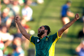Imran Tahir New Zealand v South Africa - 4th ODI