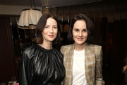 (L-R) Caitriona Balfe and Michelle Dockery attend the InStyle Badass Women Dinner Hosted By Laura Brown & Sponsored By Secret at Sunset Tower on January 28, 2020 in West Hollywood, California.