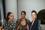 (L-R) LaLa Anthony, Ciara and Carla Gugino attend the InStyle Dinner to Celebrate the April Issue Hosted By Cover Star Ciara and Laura Brown on March 13, 2019 in New York City.
