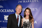 Oceana CEO Andy Sharpless and model Almudena Fernandez attend the Inaugural Oceana Ball hosted by Christie's at Christie's on April 8, 2013 in New York City.