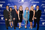 (L-R) Tom Previ, guest, David Rockefeller, Victoria Gottlieb, Susan Rockefeller, Mitzi Gaskins, and Jim McMahon attend the Inaugural Oceana Ball hosted by Christie's at Christie's on April 8, 2013 in New York City.