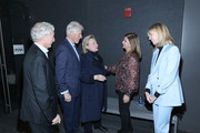 """(L-R) Sir Ronald Cohen, Bill Clinton, Hillary Clinton, Dalia Rabin and Sharon Cohen attend a special screening of """"Incitement"""" at The Landmark at 57 West on February 01, 2020 in New York City."""