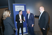 """(L-R) Ron Leshem, Bill Clinton and Yaron Zilberman attend a special screening of """"Incitement"""" at The Landmark at 57 West on February 01, 2020 in New York City."""