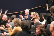"""Bill Clinton, Hillary Clinton and Dalia Rabin attend a special screening of """"Incitement"""" at The Landmark at 57 West on February 01, 2020 in New York City."""
