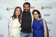 "IFFLA Founder Christina Marouda, director Anurag Kashyap and producer Guneet Monga attend the Indian Film Festival of Los Angeles (IFFLA) Opening Night Gala for ""Gangs Of Wasseypur"" at ArcLight Cinemas on April 9, 2013 in Hollywood, California."
